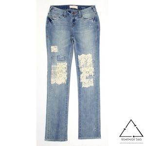 Sundance Magnolia Lace Patchwork Jeans 80192